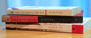 Banned books, photo by multimedia journalist and environment reporter Pamela Wood.