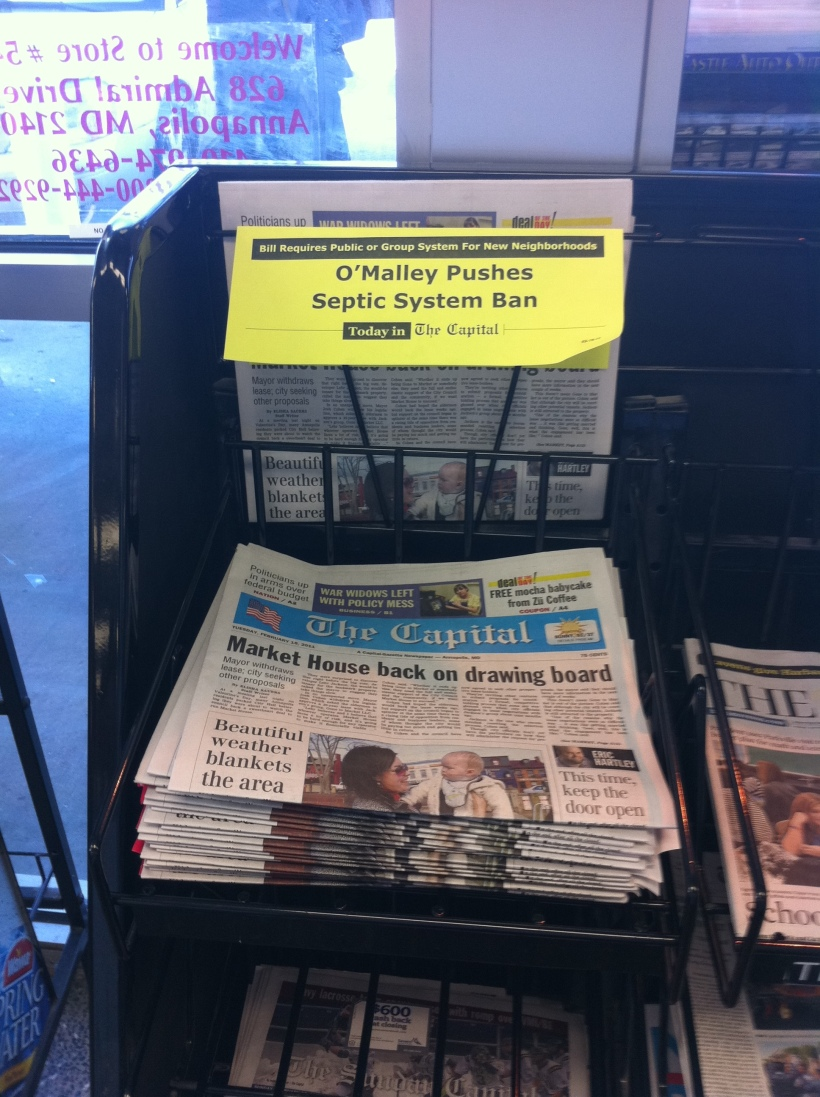 The Capital for sale in a convenience store, photo by multimedia journalist and environment reporter Pamela Wood.