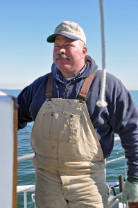 Chesapeake Bay skipjack captain Barry Sweitzer, photo by multimedia journalist and environment reporter Pamela Wood.