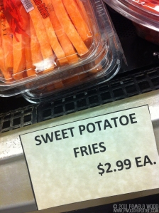 "Sweet ""potatoe"" fries for sale, photo by multimedia journalist and environment reporter Pamela Wood."