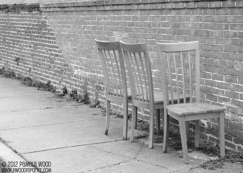 Chairs, photo by multimedia journalist Pamela Wood.