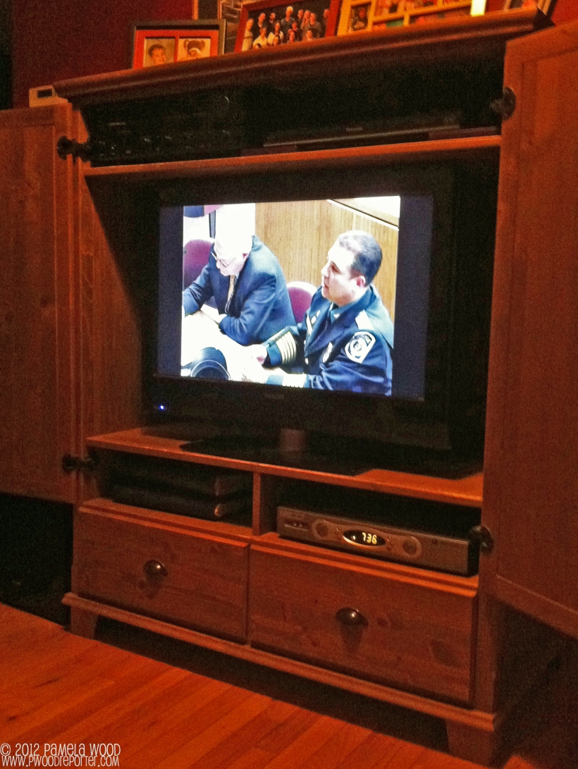 Anne Arundel County Council on TV. Photo by multimedia journalist Pamela Wood.